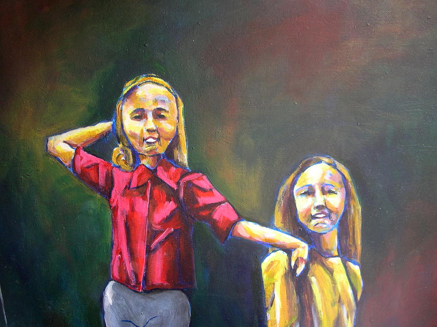 Acrylic Painting - Sisters by Tara Lewis