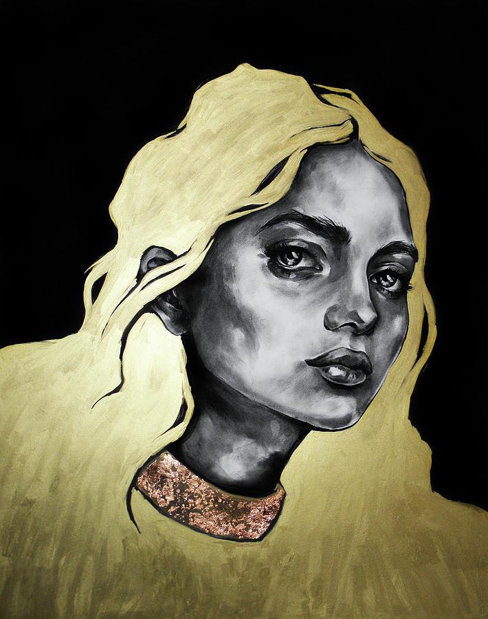 Woman Drawing - Sistine by Ashley Dorney
