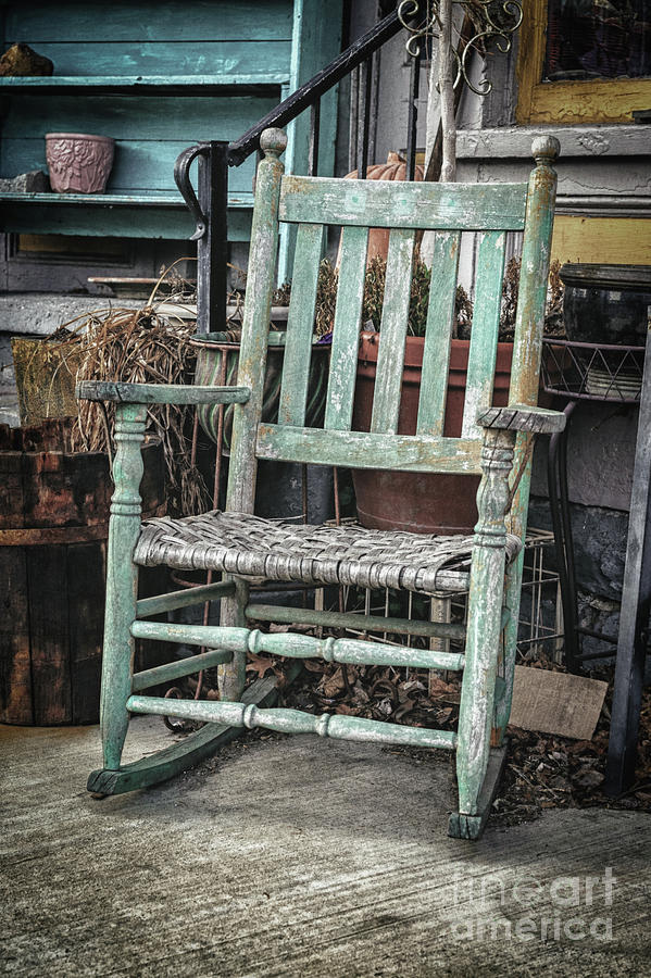 Wood Photograph - Sit A Spell by Mary Raderstorf