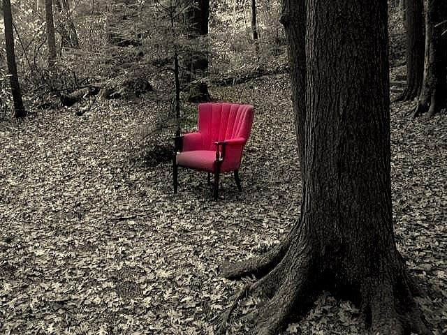 Red Chair Photograph - Sit Again by Terry  Wiley