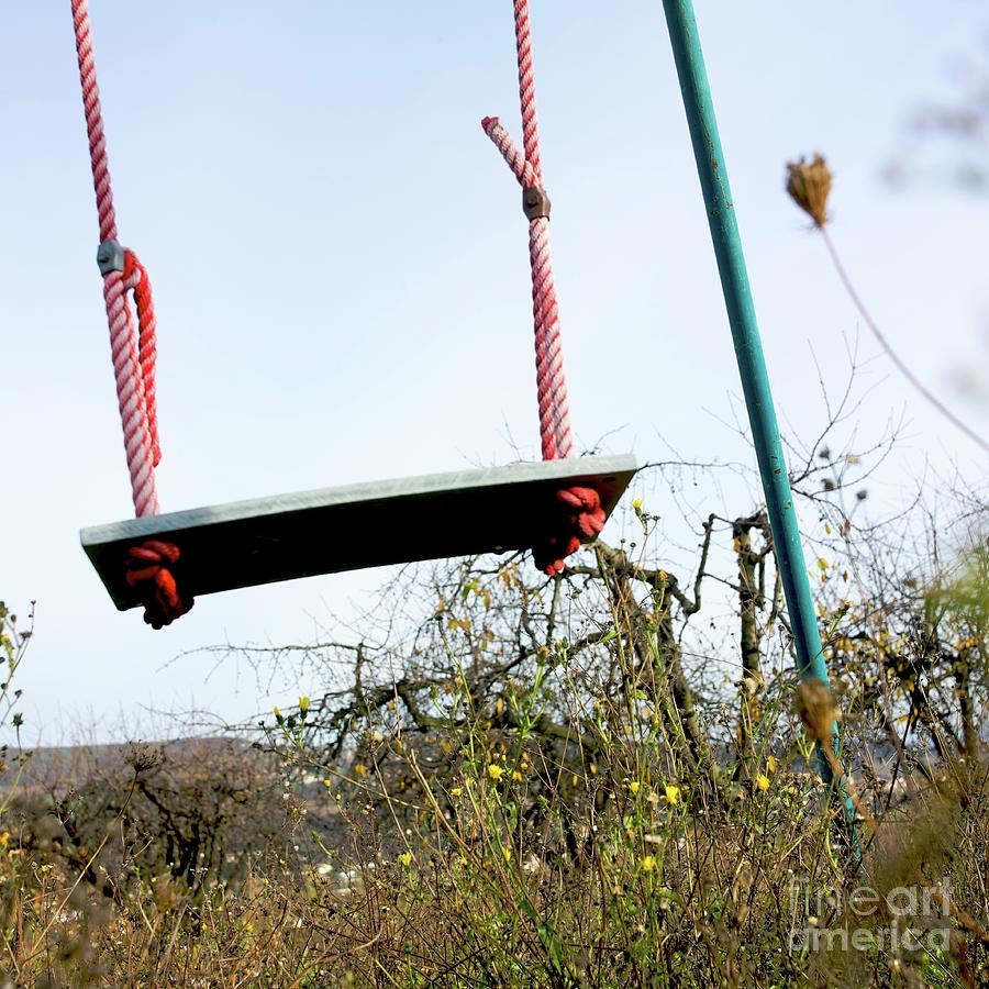 Abandoned Photograph - Sit Of Swing by Bernard Jaubert