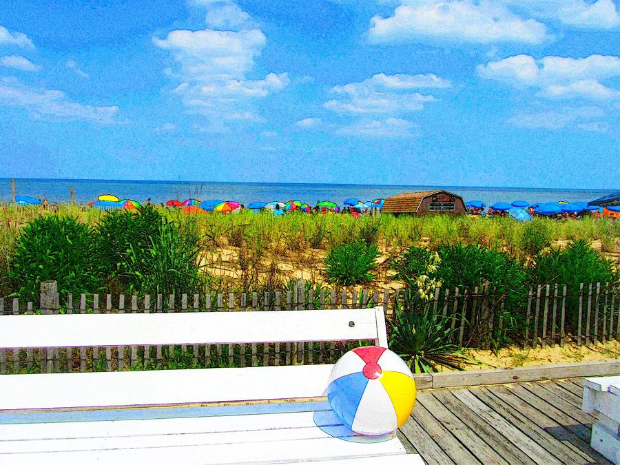Boardwalk Photograph - Sit With Me by Jeffrey Todd Moore