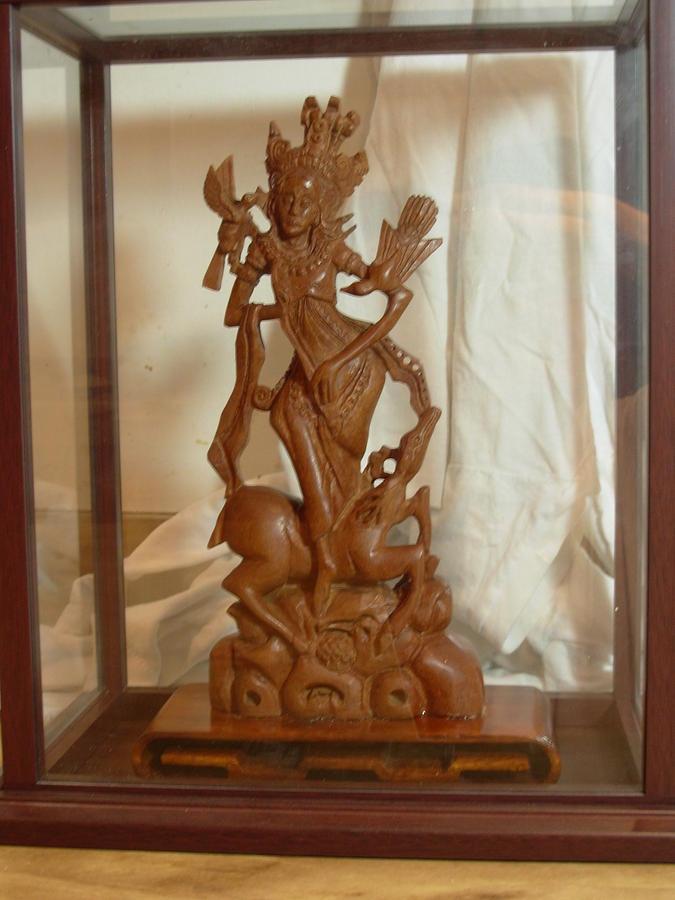 Sita In The Wood Sculpture by Pablo Reyes