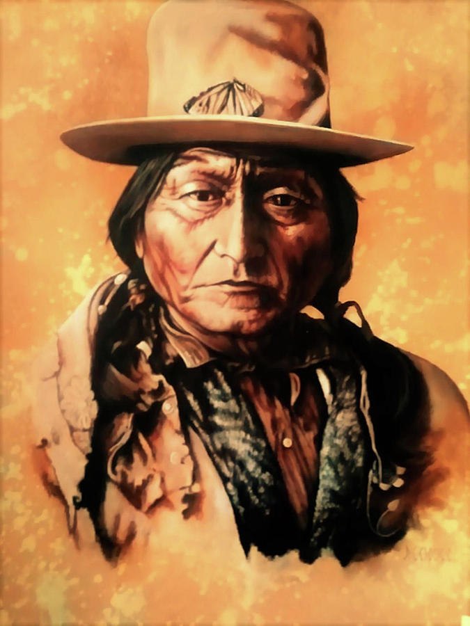 Sitting Bull Painting - Sitting Bull by DC Houle