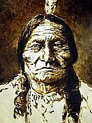 Sitting Bull Painting - Sitting Bull by Kevin Heaney