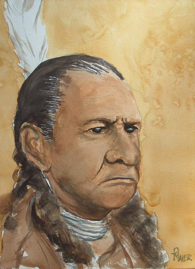 American Indian Painting - Sitting Bull by Pete Maier