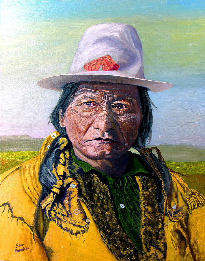Indian Painting - Sitting Bull by Stan Hamilton