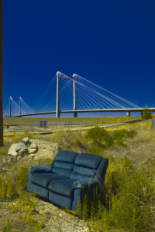 Couch Photograph - Sitting By The Bridge by Craig Perry-Ollila