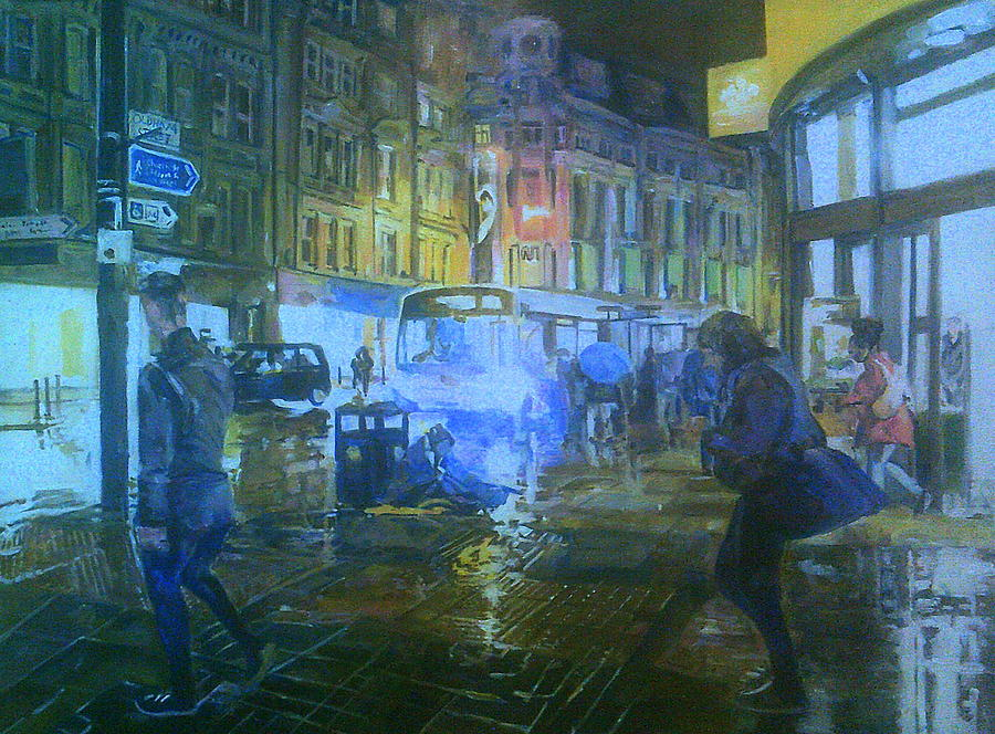 Sitting In The Rain by Rosanne Gartner
