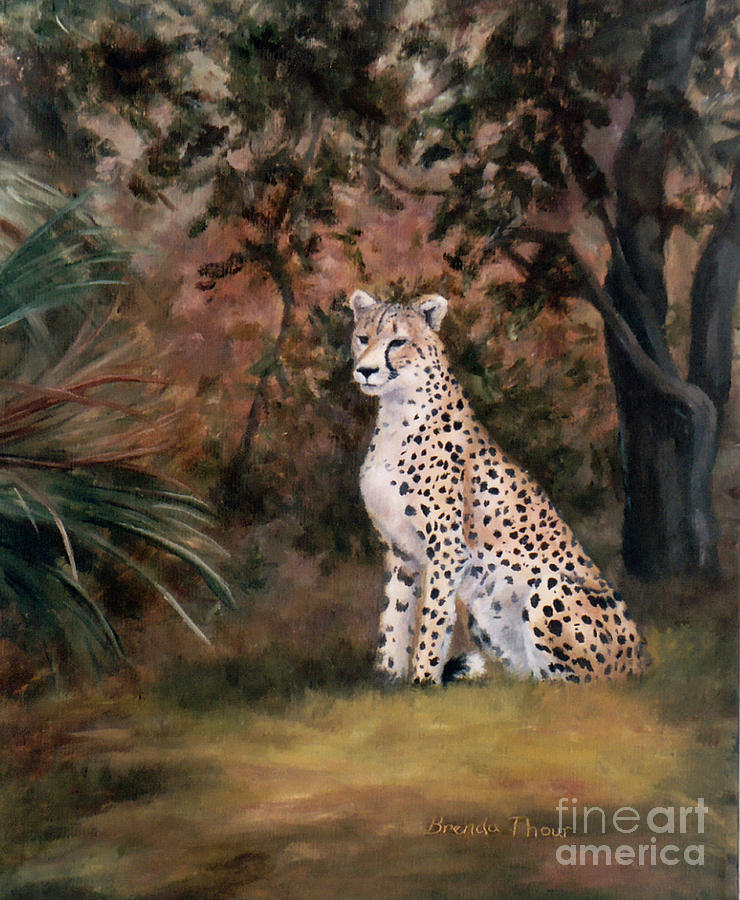 Wildlife Painting - Sitting Proud by Brenda Thour