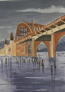Siusalaw Bridge Painting by Dora Gourley