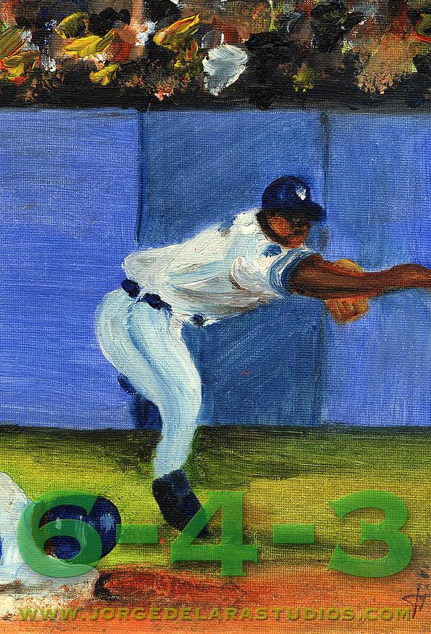 Pitchers Painting - Six-4-three by Jorge Delara