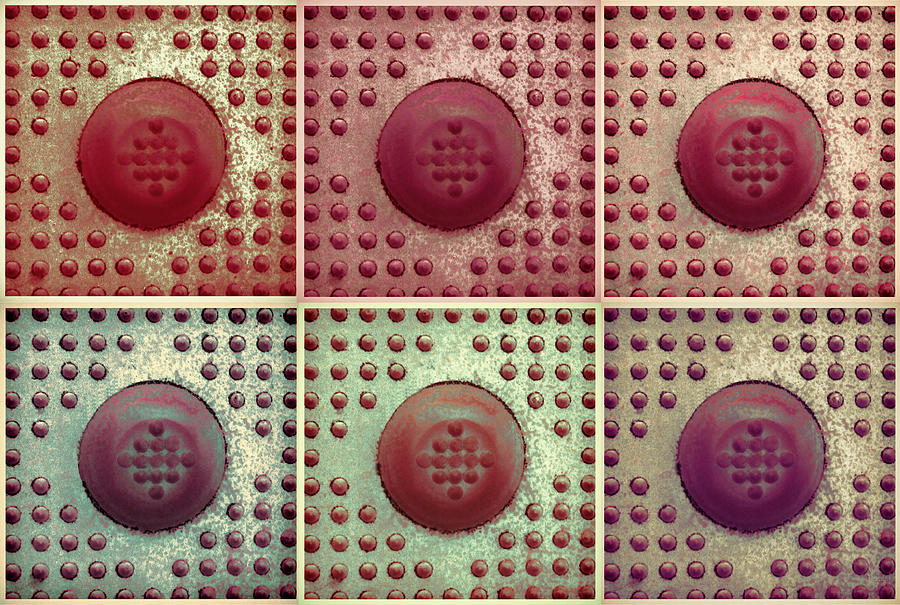Modern Photograph - Six Panel Dot And Cube Landscape by Tony Grider