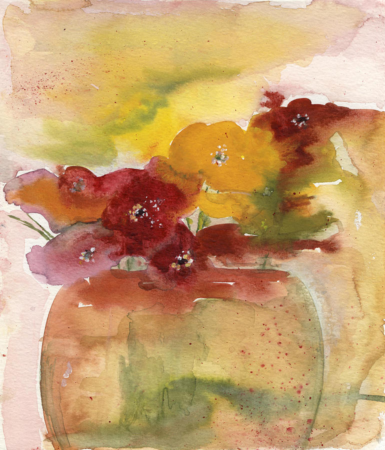 Flowers Painting - Six Flowers by Maria Tepper