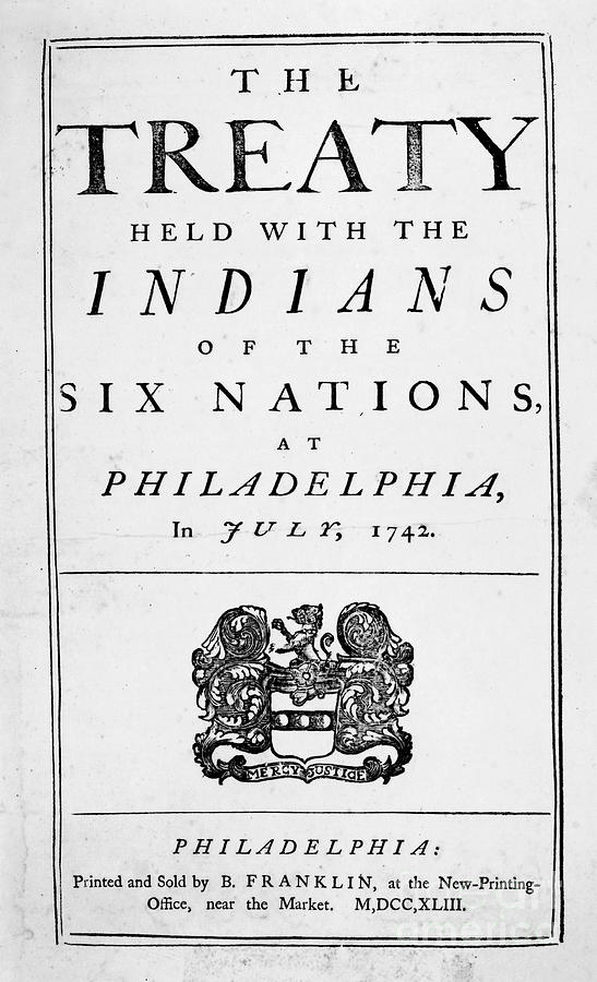1742 Photograph - Six Nations Treaty, 1742 by Granger