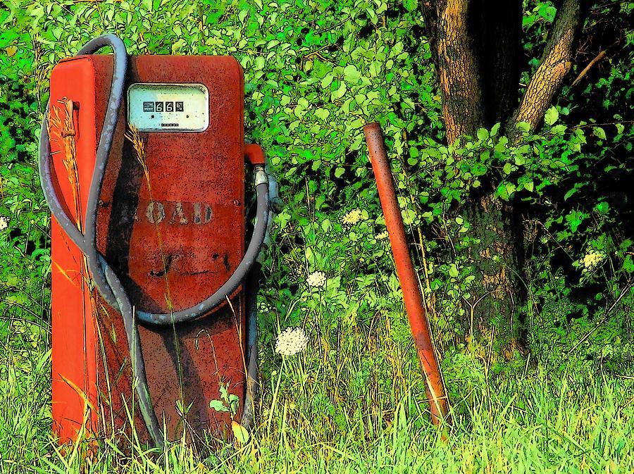 Gas Pump Photograph - Sixty Six Cents A Gallon by Michael L Kimble