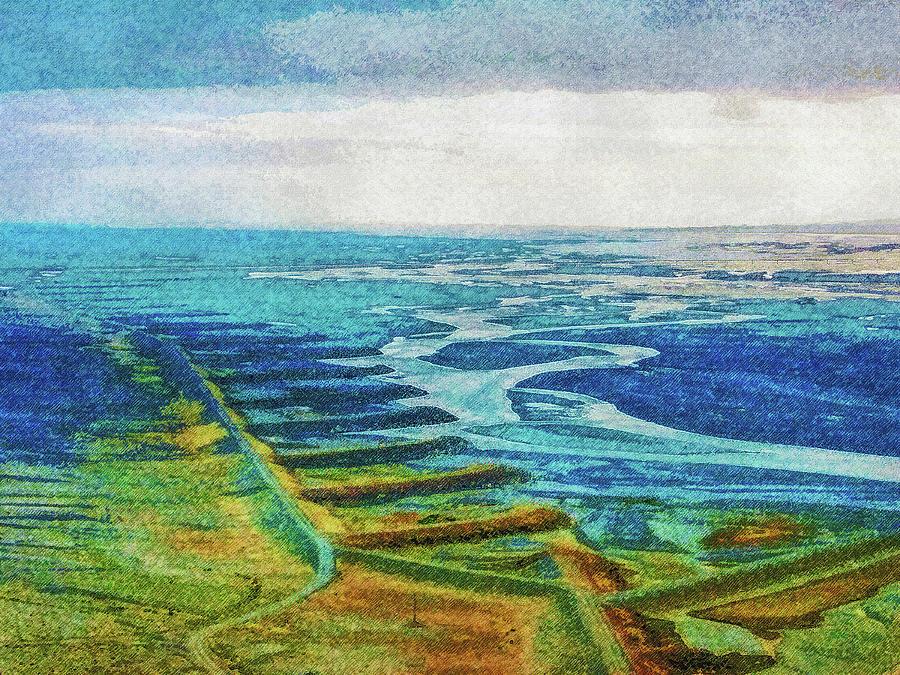 Iceland Digital Art - Skaftafell Floodplain by Frans Blok