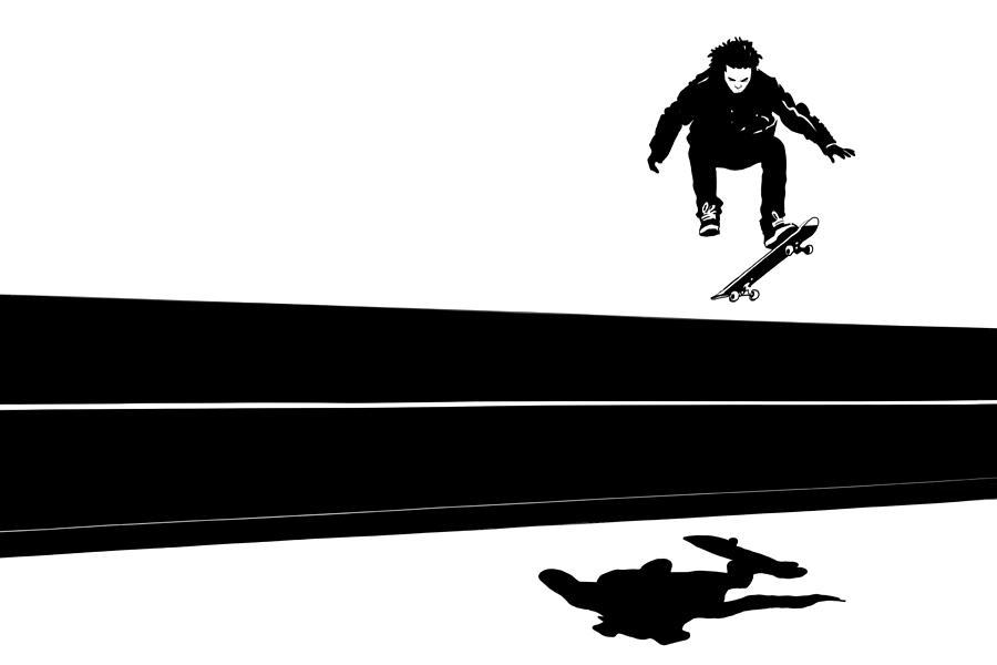 Skateboard Drawing - Skateboard by Giuseppe Cristiano