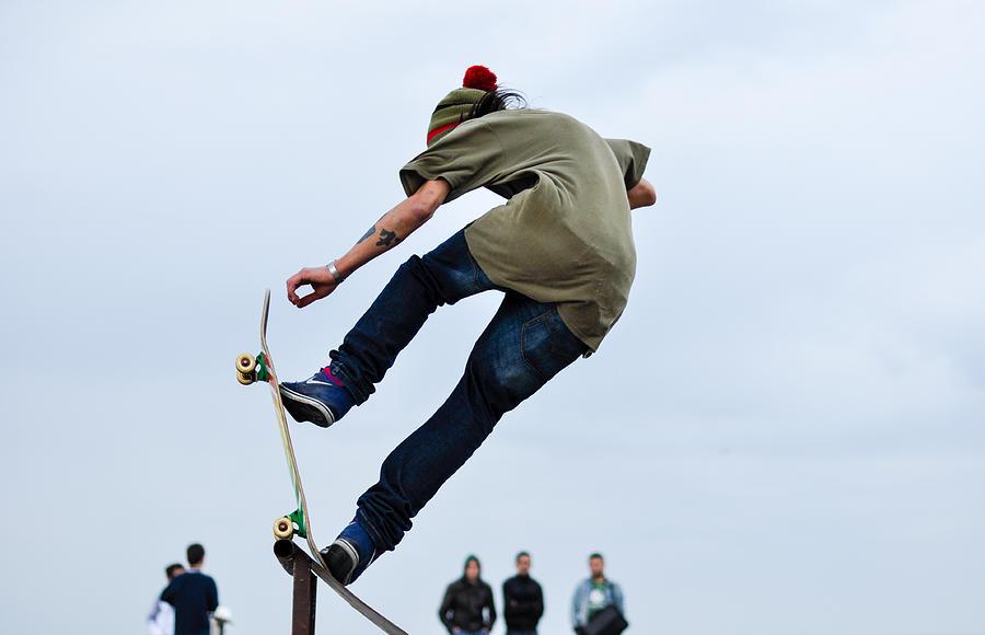 Skateboard Photograph - Skateboarder by Freepassenger By Ozzy CG