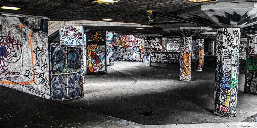 Graffiti Photograph - Skatepark Graffiti Southbank by Mo Barton