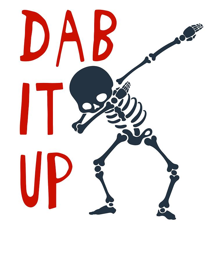 Gift Mixed Media - Skelleton Halloween Dabbing Funny Humor Easy Costume Dab It Up Everywhere Kids Children Dabbing Offi by Cameron Fulton