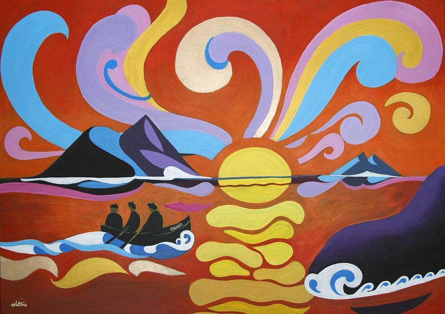 Skellig Islands Painting - Skellig by Martine Murphy