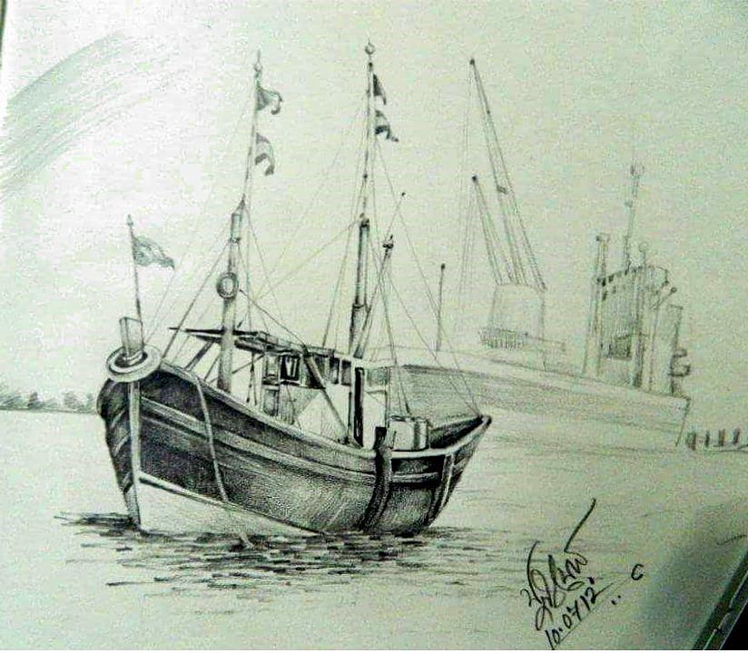 Sketch Drawing - Sketch 2 by Abu Zunaid
