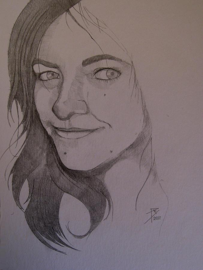 Pencil Painting - Sketch For Allison by Ray Agius