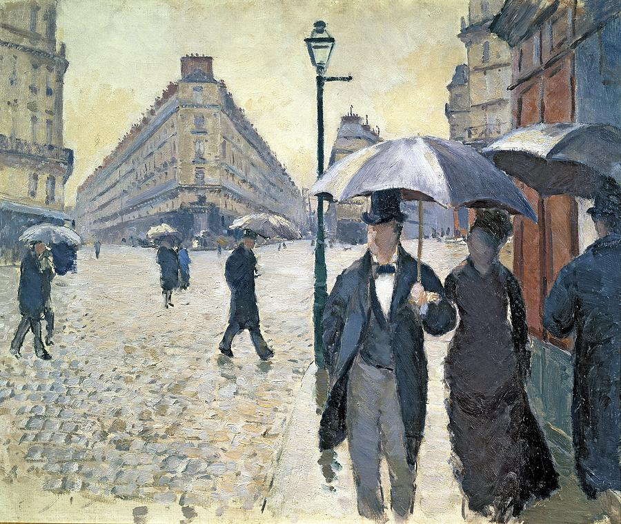 Gustave Painting - Sketch For Paris A Rainy Day by Gustave Caillebotte