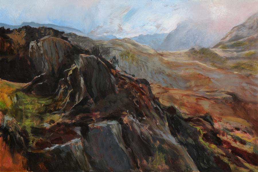 Landscape Painting - Sketch In Snowdonia by Harry Robertson