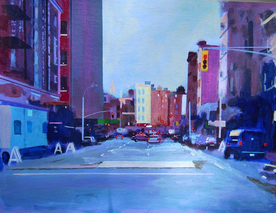Manhattan Painting - Sketch Of Manhattan by John Tartaglione