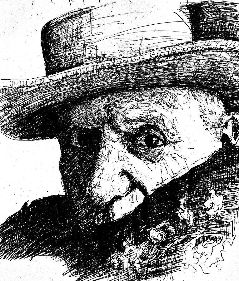 Portrait Painting - Sketch Of Picasso by Dan Earle