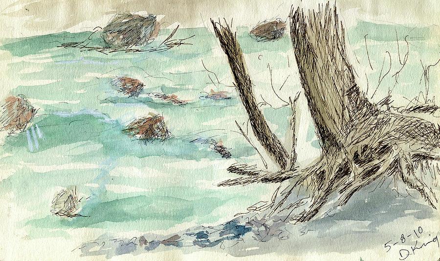 Sketch Painting - Sketchbook 001 by David King