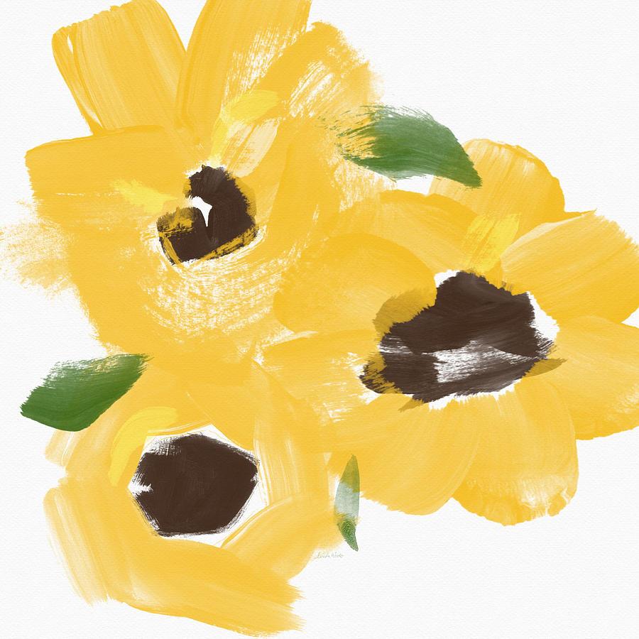 Sketchbook Sunflowers- Art By Linda Woods Painting