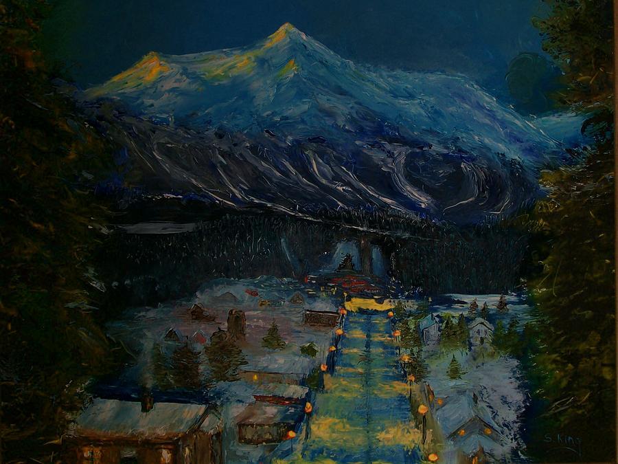Winter Painting - Ski Resort by Stephen King