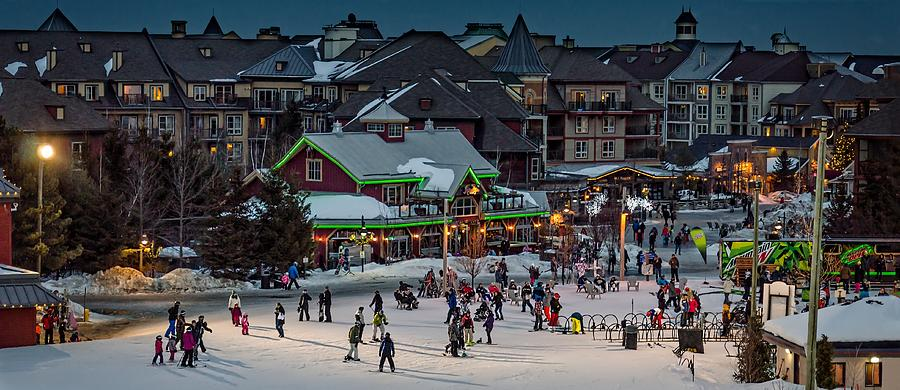 Skiing Photograph - Skiing At The Village by Jeff S PhotoArt