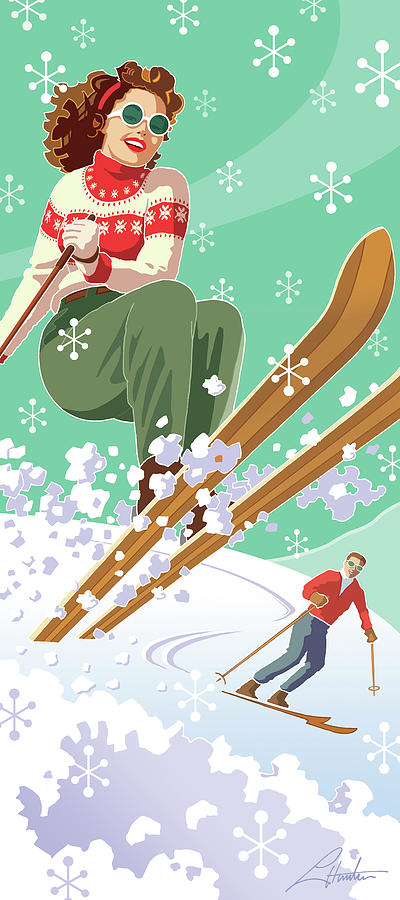 Skiing Holiday by Larry Hunter