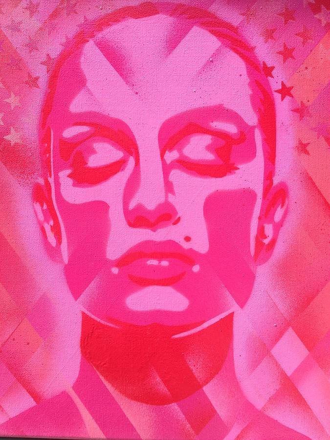 Woman Painting - Skin Deep Series, Pinks by Leon Keay
