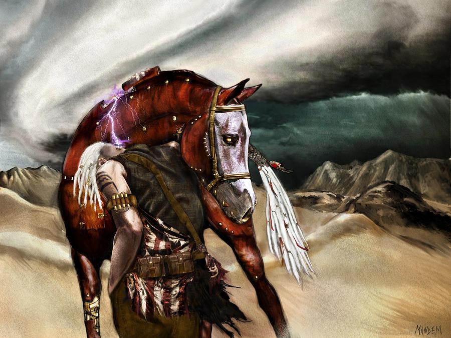 Fantasy Painting - Skin Horse by Mandem