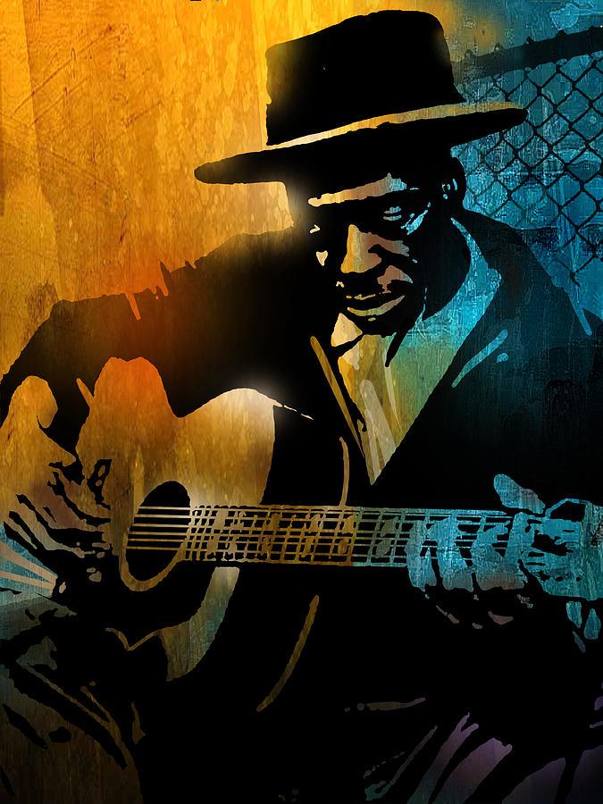 Blues Painting - Skip James by Paul Sachtleben