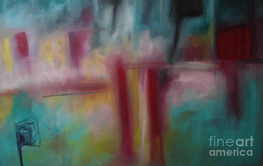 Abstract Landscape Painting - Skip by Maria Curcic