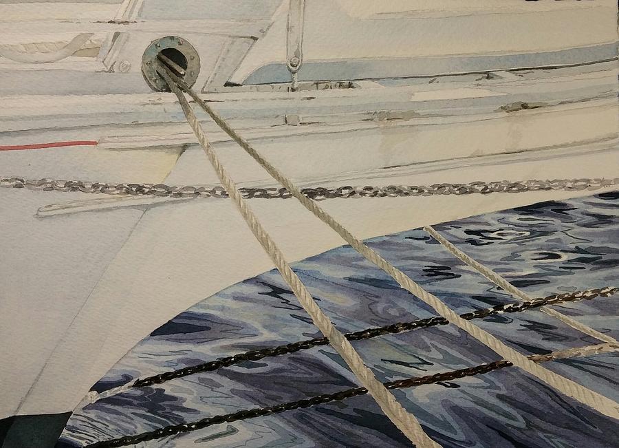 Skipjack Painting - Skipjack At The Ready by Kurt Plinke