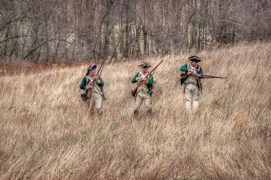 Soldier Digital Art - Skirmish Line by Randy Steele