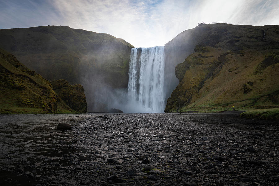 Skogafoss Waterfall In Iceland Photograph