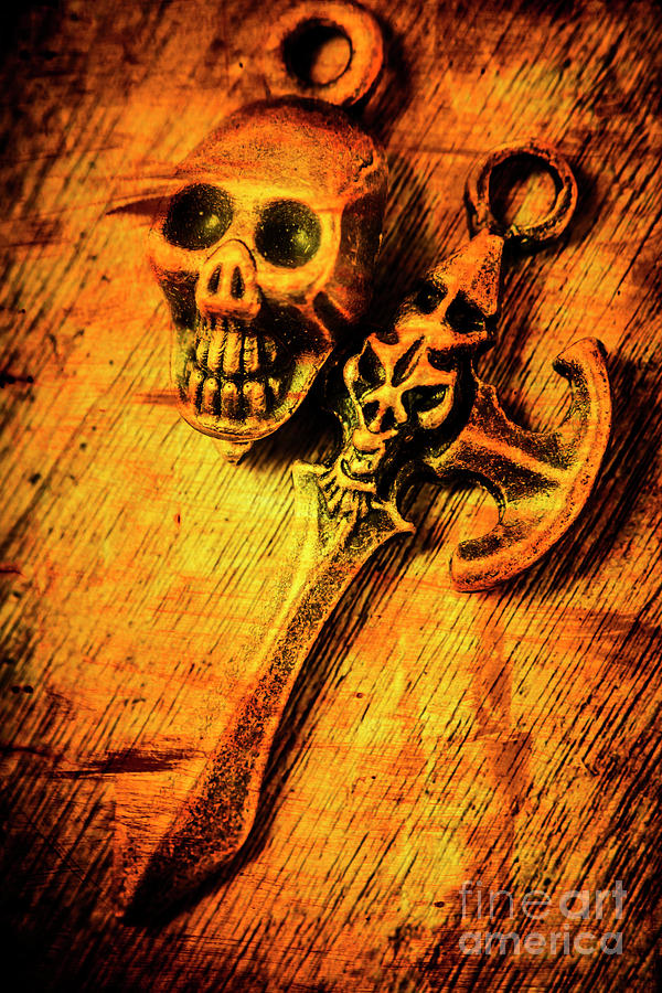 Skull Photograph - Skull And The Sword by Jorgo Photography - Wall Art Gallery