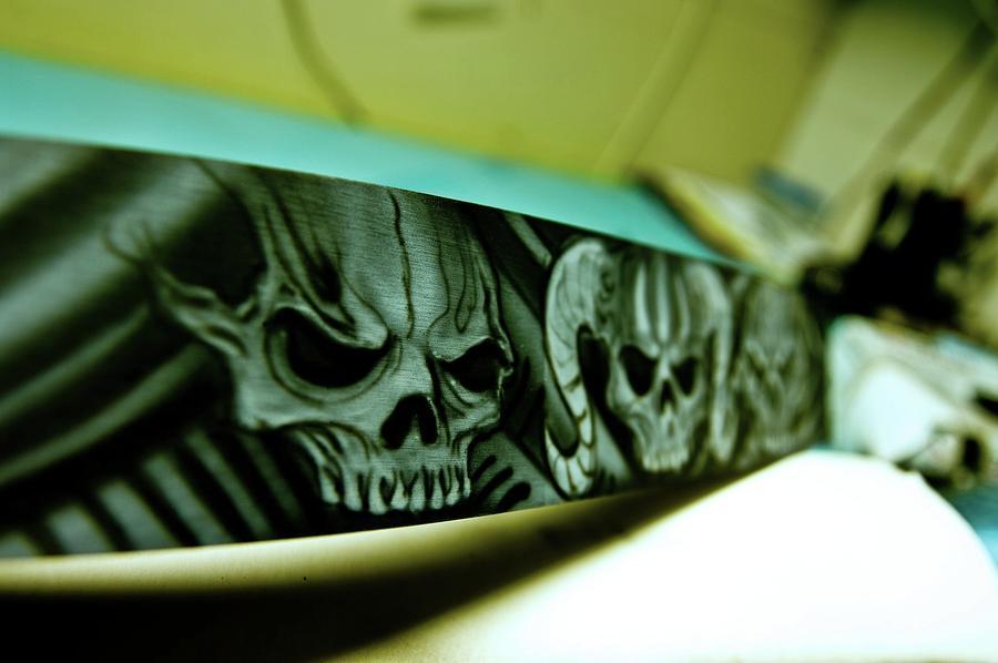 Skull Belt Drive by Travis Crockart