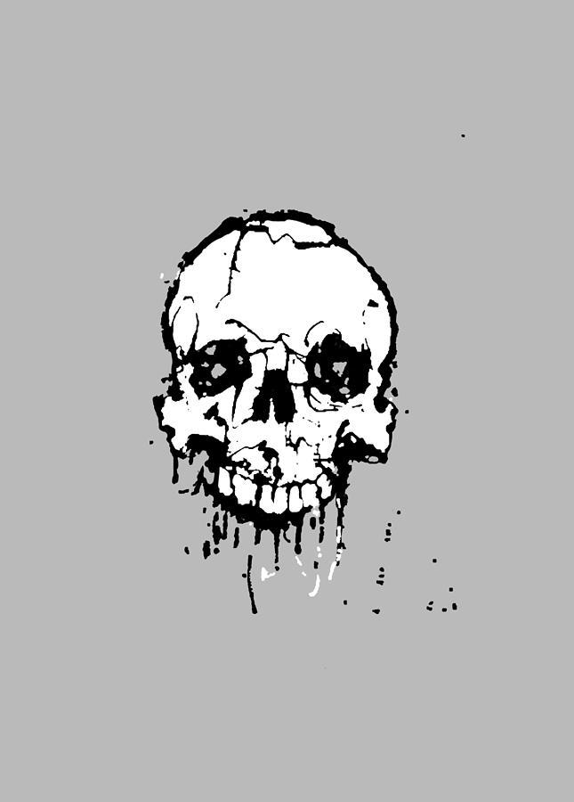 Skull Digital Art - Skull by H James Hoff