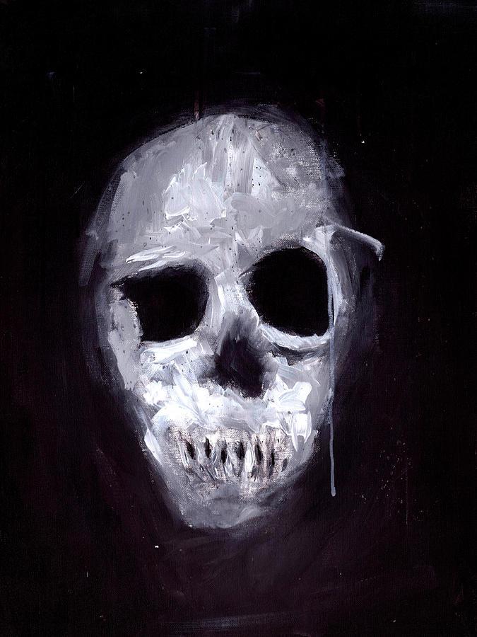 Skull Painting - Skull II by Matthew Daigle