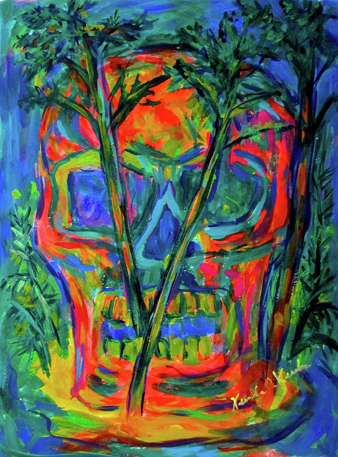 Blue Prints For Sale Painting - Skull Island by Kendall Kessler