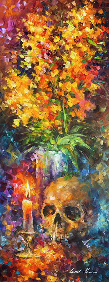 Painting Painting -  Skull Of Reality by Leonid Afremov
